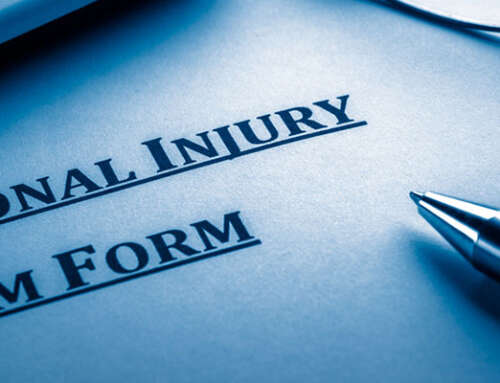 Claim for personal injuries following an accident at work